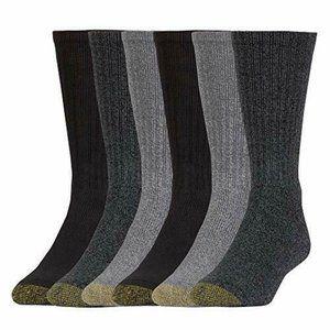 Gold Toe AQUAFX Harrington Men's Crew Socks 6PK